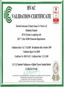 Validation Certificate
